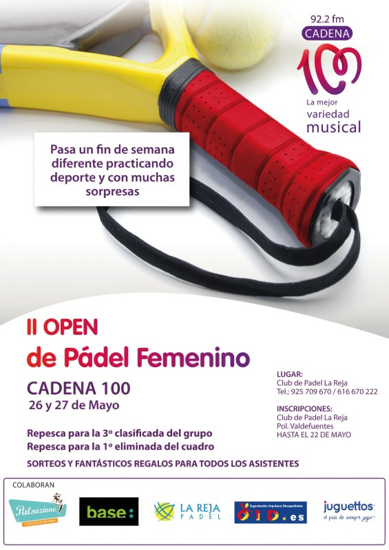 "Torneo ""II Open Femenino Cadena 100″"