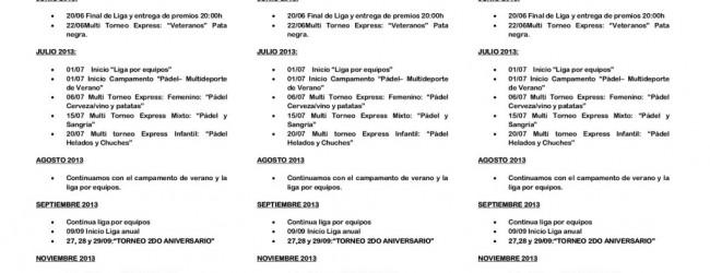 Programa de actividades 2013