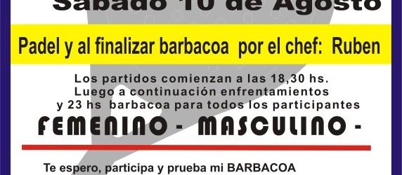 Padel y barbacoa 10 Agosto 2013